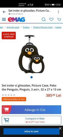 Set troler si ghiozdan, Picture Case, Peko the Penguin, Pinguin, NOI