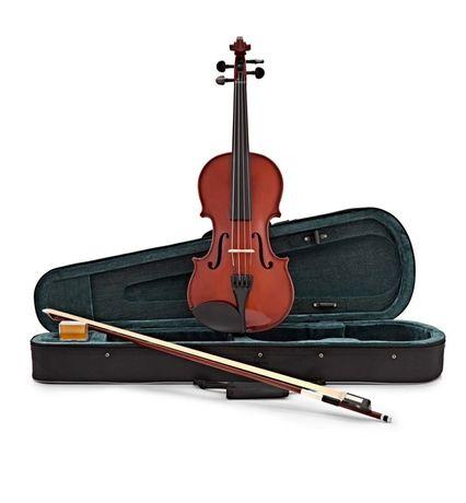 Viola vioara clasica din lemn husa transport inclusa 65 cm NOU