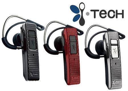 Bluetooth слушалка i-Tech i.VoicePRO 901, черна, червена и сива