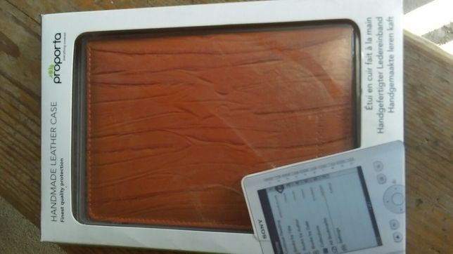 Husa piele handmade pt Ebook Sony