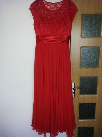 rochie lunga culoare rosie, marime 44-46