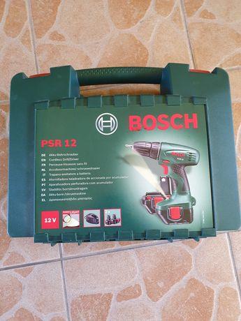 Mașina găurit/înșurubat Bosch PSR 12 cu 2 acumulatori