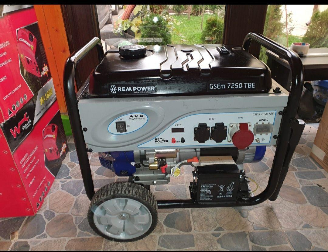 Generator Rem Power GSM 7250 TBE,7 kw, 11 CP,trifazat si monofazat
