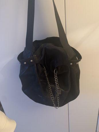 Черна чанта от естествена кожа Fetish