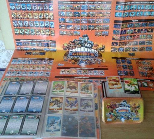 Skylanders Giants + Swap Force + Trap Team topps Collector Cartonase