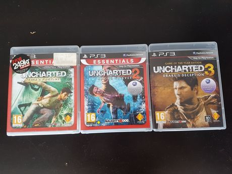 Colectia Uncharted 1, 2, 3 pt PS3