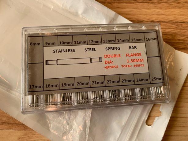 Pini Arcuri Otel Inoxidabil Curea Ceas 8-25mm 360 bucati Spring Bars