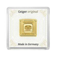 Moneda lingou aur 24K + certificat, Geiger Germania 5 grame
