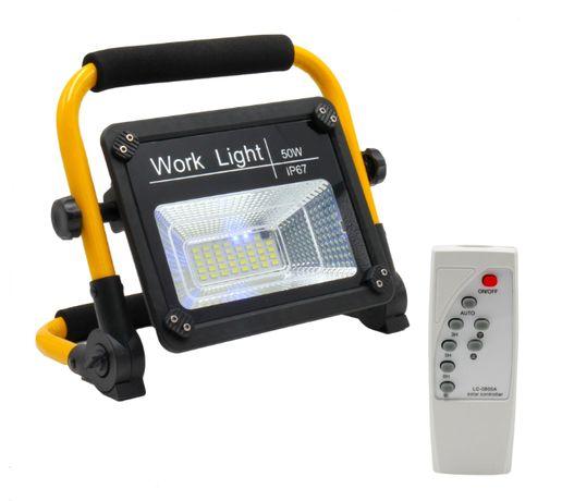 Proiector solar led portabil 50W cu telecomanda