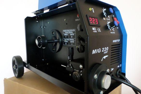 Телоподаващо устройство MIG220А Inverterr -4м шлаг, количка за бутилка