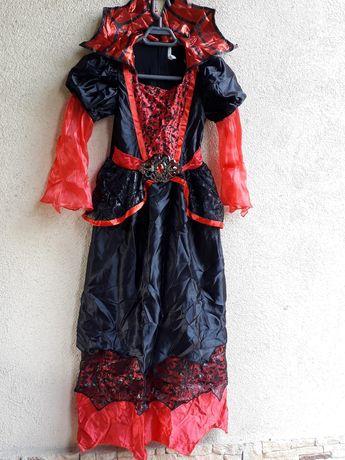 Costum carnaval, Halloween, rochie Vampirita, 6-8 ani