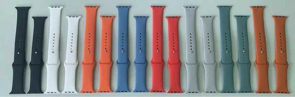 Високо качествени силиконови каишки за Apple watch 1/2/3/4/5/6/SE