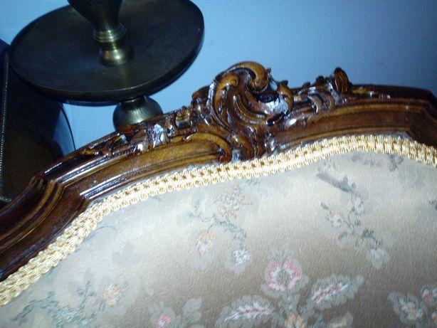 Salon antic Rococo sec XIX sofa, fotoliu masa