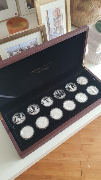 12 Сребърни монети, в луксозна кутия Гръцки музи