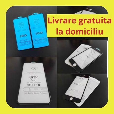 FOLIE DE STICLA full cover iPhone X, Xr, X Max, 11, 11 Pro, 11 Pro Max