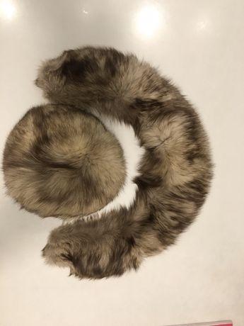 Guler si caciula blana( vulpe polara/argintie)