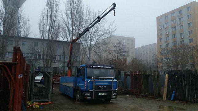 Transport  rutier  de  marfuri  cu manipulare marfa macara  sau lift