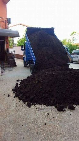 Transport pamant negru vegetal