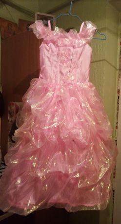 Праздничное платье и накидка(5-7лет)