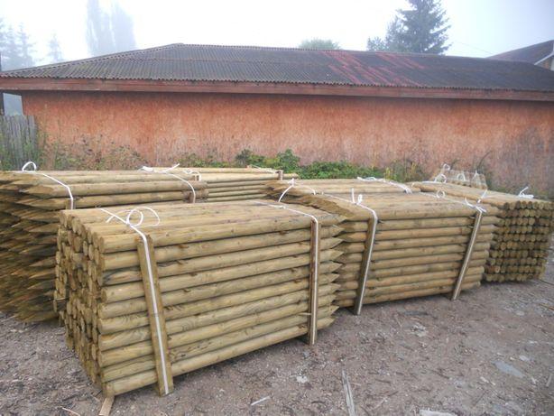 Stalpi din lemn tratat cu garantie 10-15 ani