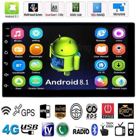Навигация GPS Android 10 Мултимедия 7 двоен дин кола автомобил радио