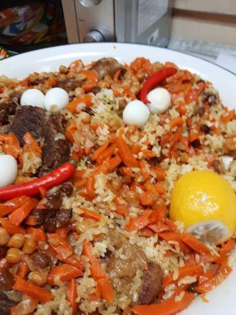 Ташкентский плов на заказ ,Куырдак ,салаты разные от Махана.Вкусно.