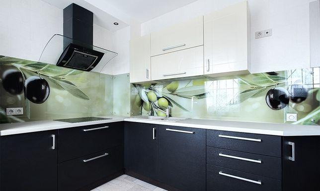 Кухонные фартуки из стекла с УФ (UV) фотопечатью. Скинали
