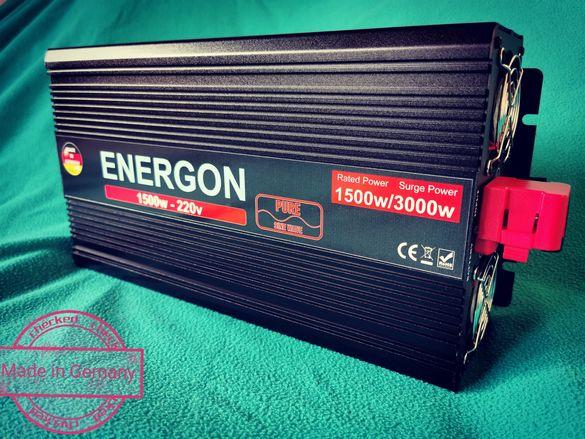 Инвертор 1500w/3000w 12v - 220v НЕМСКИ пълна синусоида преобразувател