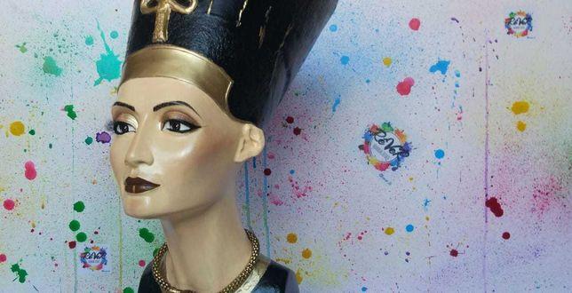 Гипсовый бюст/статуя Нефертити. Ручная роспись.