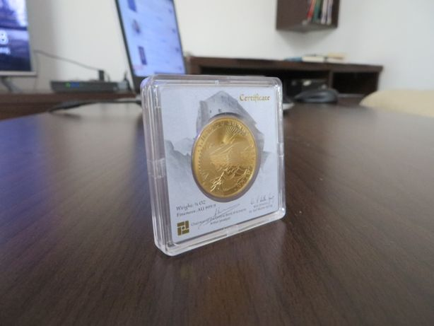 Moneda lingou aur 24K + certificat, Arca lui Noe 7,77 grame