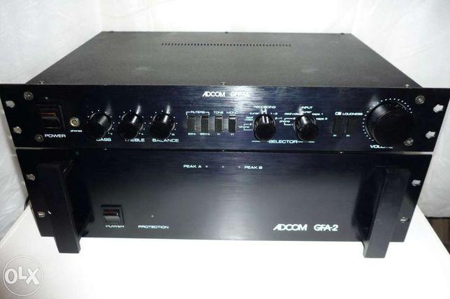 Amplificator de putere-pre amp profesional ADCOM GFA-2 si GFP-1A