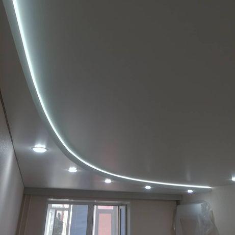 Двухуровневые натяжные потолки Костанай