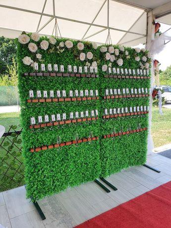 Panouri decorative cu pahare de șampanie pentru primirea invitațiilor