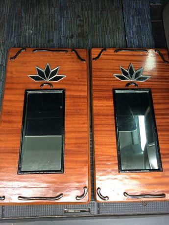 Oglinda veche cu rama lemn masiv -2 buc