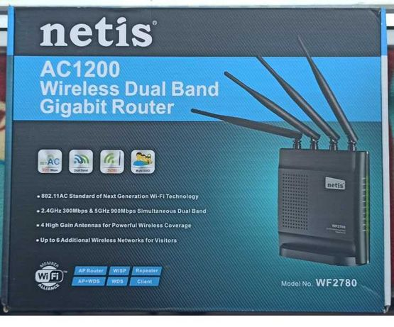 Router Wireless Netis AC1200 WF2780, Gigabit, Dual Band, 1200 Mbps