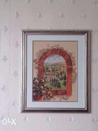 """Картина вышитая """"Мечты о Тоскане"""""""