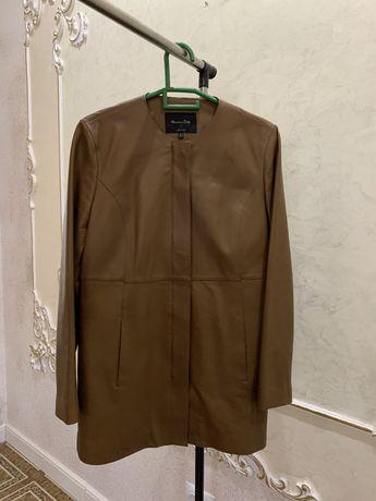 продам кожаную куртку от Massimo Dutti