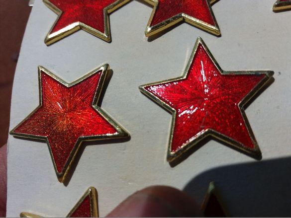 Червена звезда петолъчка кокарда вензел