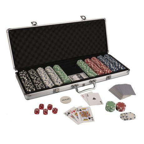 Poker set chips 300/500 jetoane profesionale