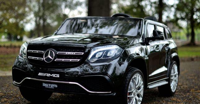 Masinuta electrica pentru 2 copii Mercedes GLS63 AMG 2x 35W #Negru