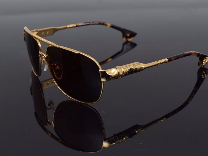 Слънчеви очила Chrome Hearts Buek Gold гр. София - image 1