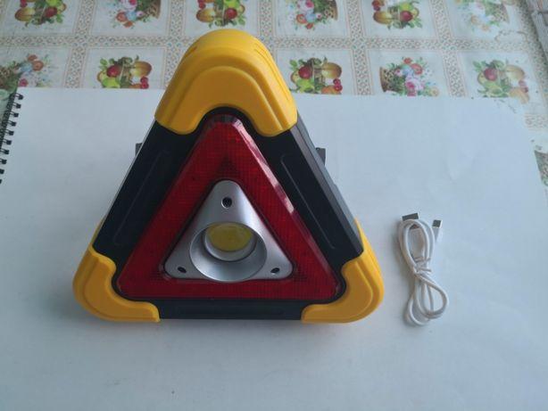 Triunghi reflectorizant 3in1 lanterna, baterie solara, triunghi