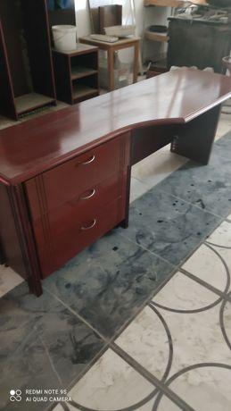 Стол письменный темно коричневый