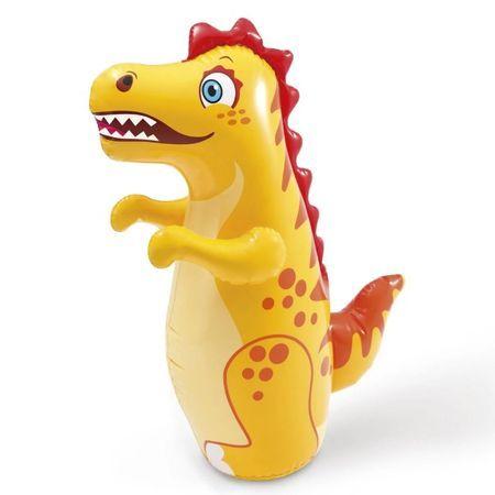 Dinozaur gonflabil, pentru copii, galben, dimensiune 94x61 cm