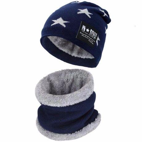 Балалар шапкасы шарфымен