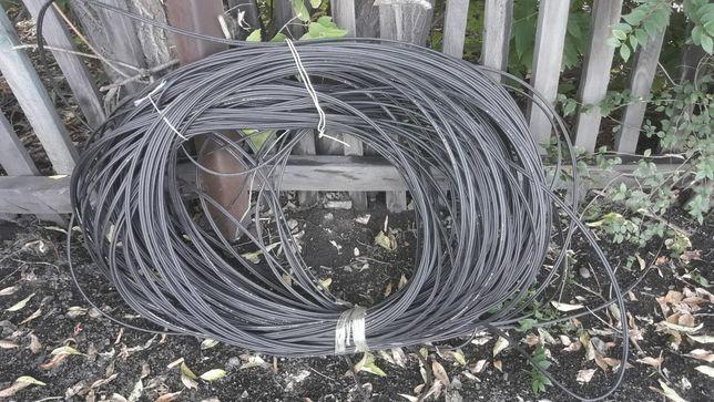 Телефонный кабель - провод со стальным троссом 200 метров - Ограждение