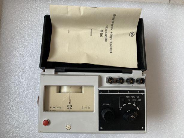 Мегаомметр ОММЕТР М-416 измеритель сопротивления заземления НОВЫЙ