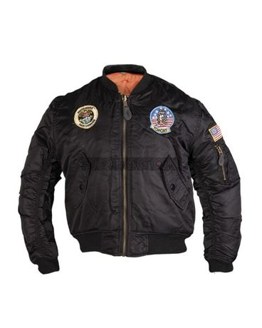 Jacheta militara copii cu patchuri Mil-Tec Negru