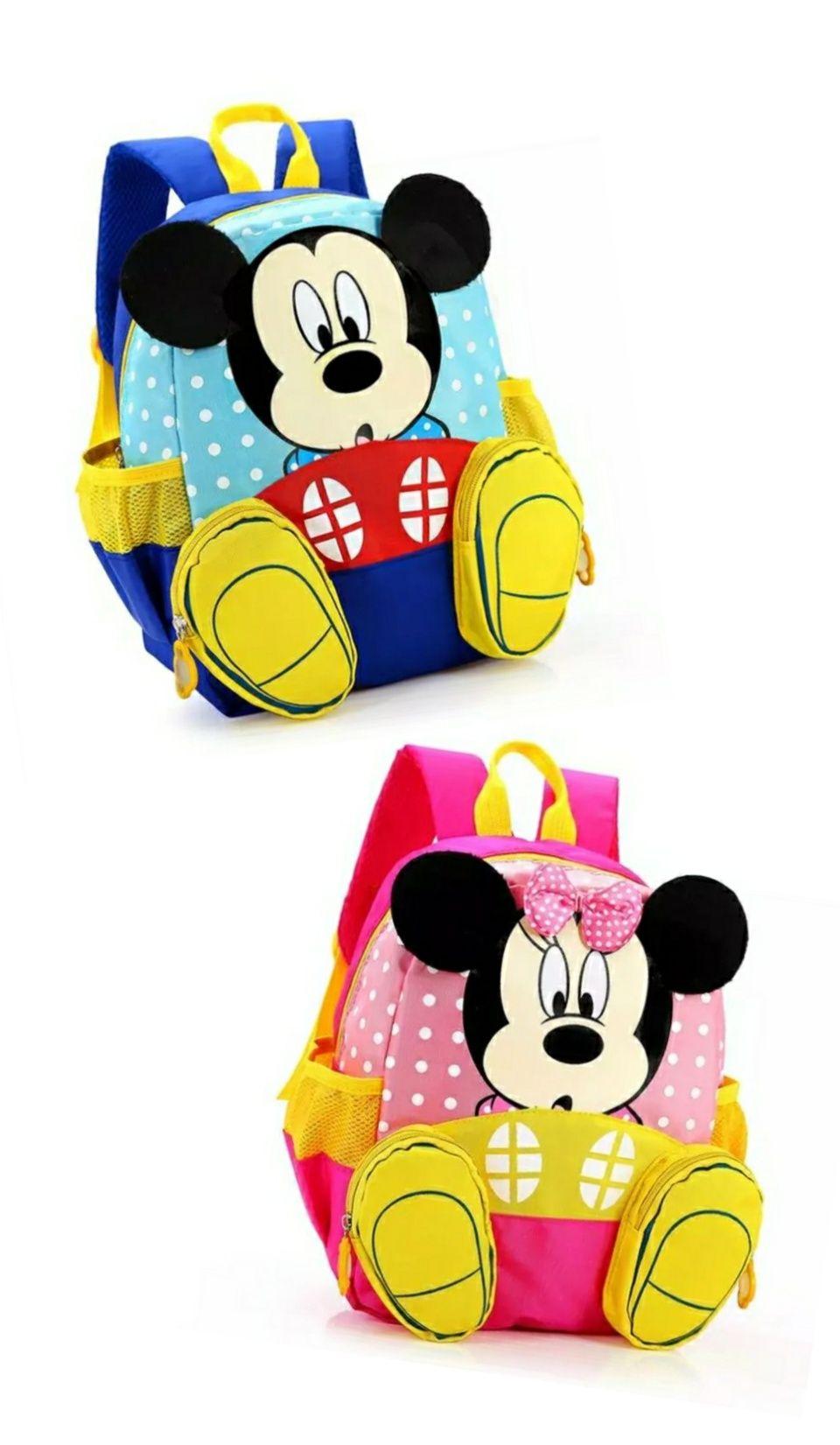 Детски раници на Мики/Miki и Mini/Мини Маус с джобченца-краченца