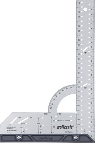 Дърводелски прав ъгъл с ъгломер 200х300 мм Wolfcraft